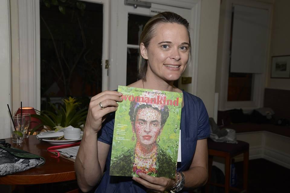 Creative Mama Jade Oakley  loving her copy of Womankind magazine