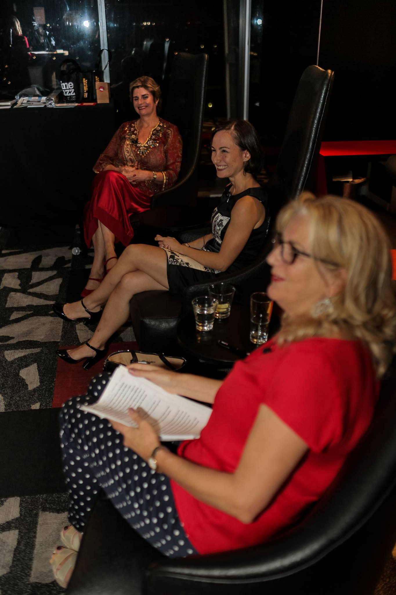 Our esteemed panel at our first Mama Creatives Red Party