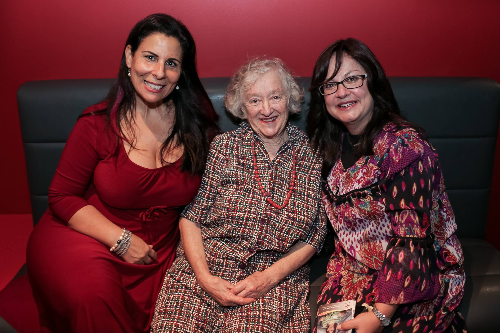 End of the night and still going strong! My 80 year old mother Bev flanked by the luscious Esther Labi, founder of Storm in a D Cup and Laya Slavin from Our Big Kitchen.