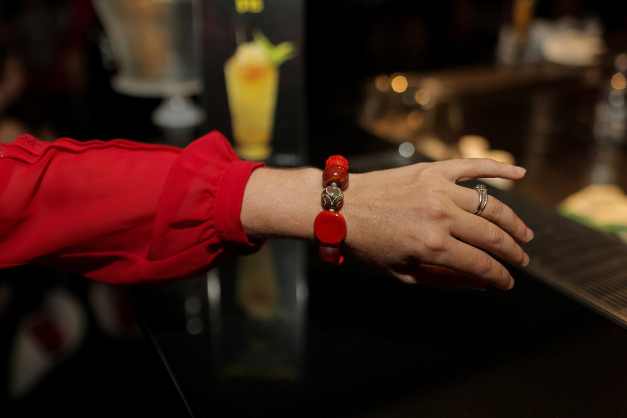 Thank you to the amazing Shelley Millingen, founder of Bellicious for this red bracelet, made especially for the Red Party!