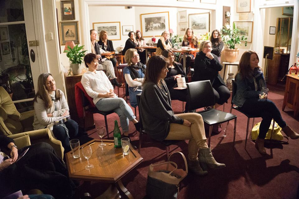 A room full of mamas at our evening event 'The Creative Process', featuring the fabulous painter and art educator, Marisa Purcell.