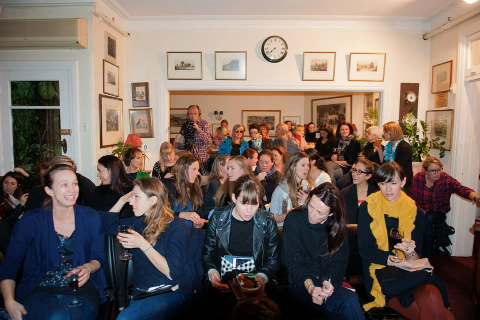 A room full of creative mamas just before our featured speaker, Lucy Perry, wowed them all.