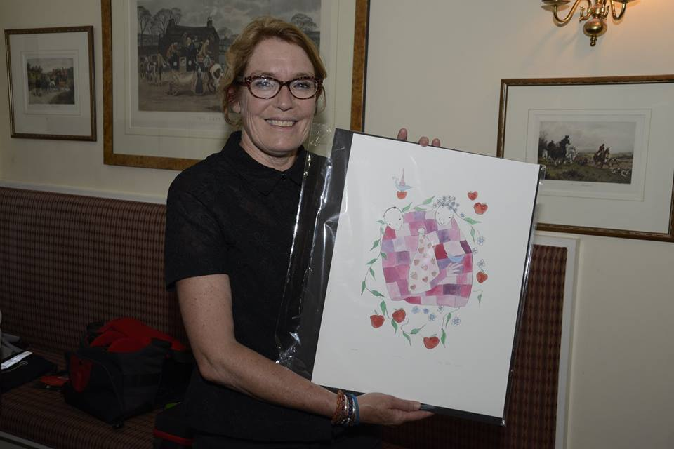 Congratulations to creative mama Frances, winner of 'Love' a limited edition print by Lilly Blue who kindly donated this artwork as a raffle prize to help raise funds and awareness for PANDA
