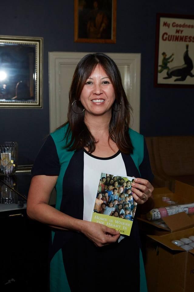 The lucky raffle winner of Geraldine Cox's autobiography, founder of Sunrise Cambodia.
