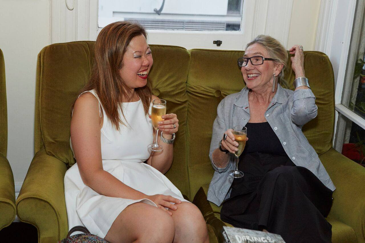 Two amazing creative mamas Sarah, founder of Velo-a-Porter with Michele, founder of New Parent counselling