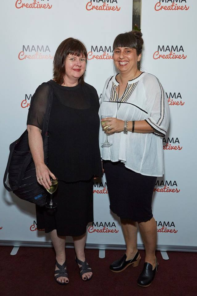 Two very talented creative mamas Lisa, from Object: Australian Design Centre and founder of KIDsize Living Sydney's East, with Sonja