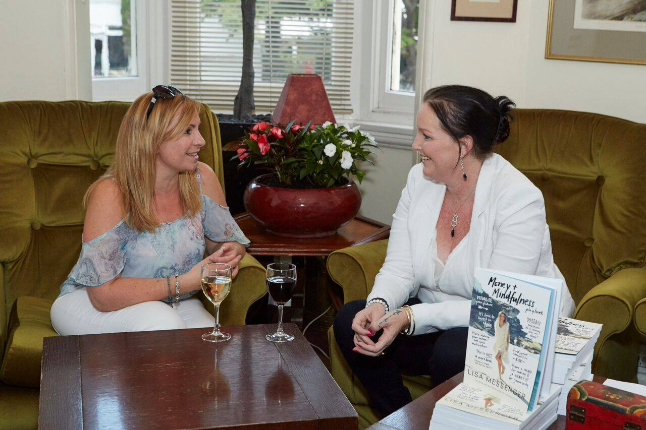 Samantha Riley, founder of The Accelerant Group, and facilitator at our expert social media masterclass, enjoying a relaxing glass of wine