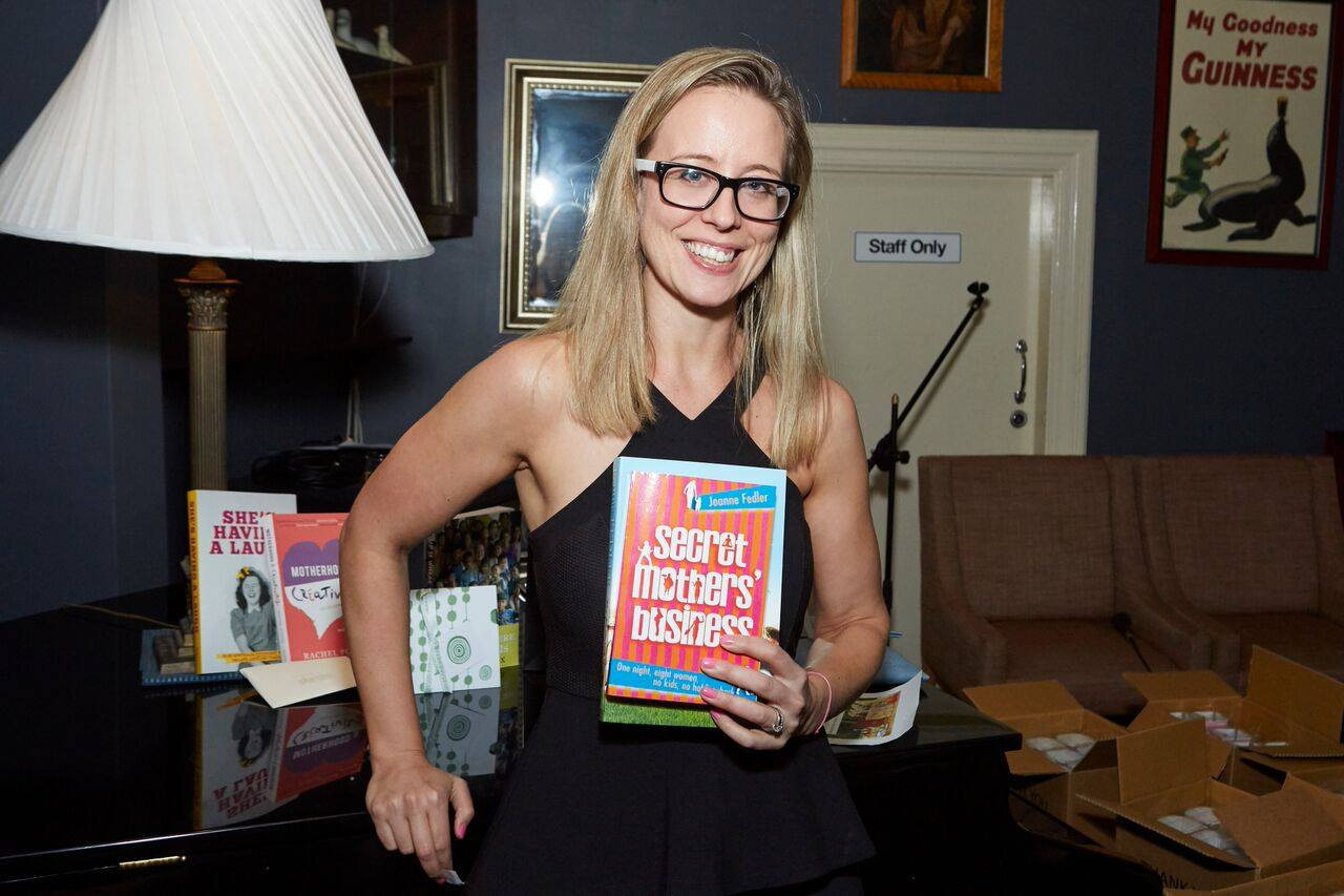 Happy raffle winner Clare, who won double book bundle courtesy of writer Joanne Fedler