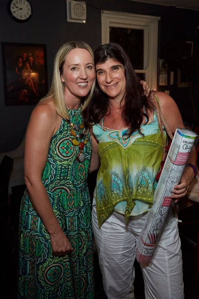 Two incredibly talented creative mamas, Kate Sutton founder of uberkate and author Joanne Fedler. Also featured is a Colour Away 2016 calendar illustrated by Louise Treviit, gifted to every mama who attended.