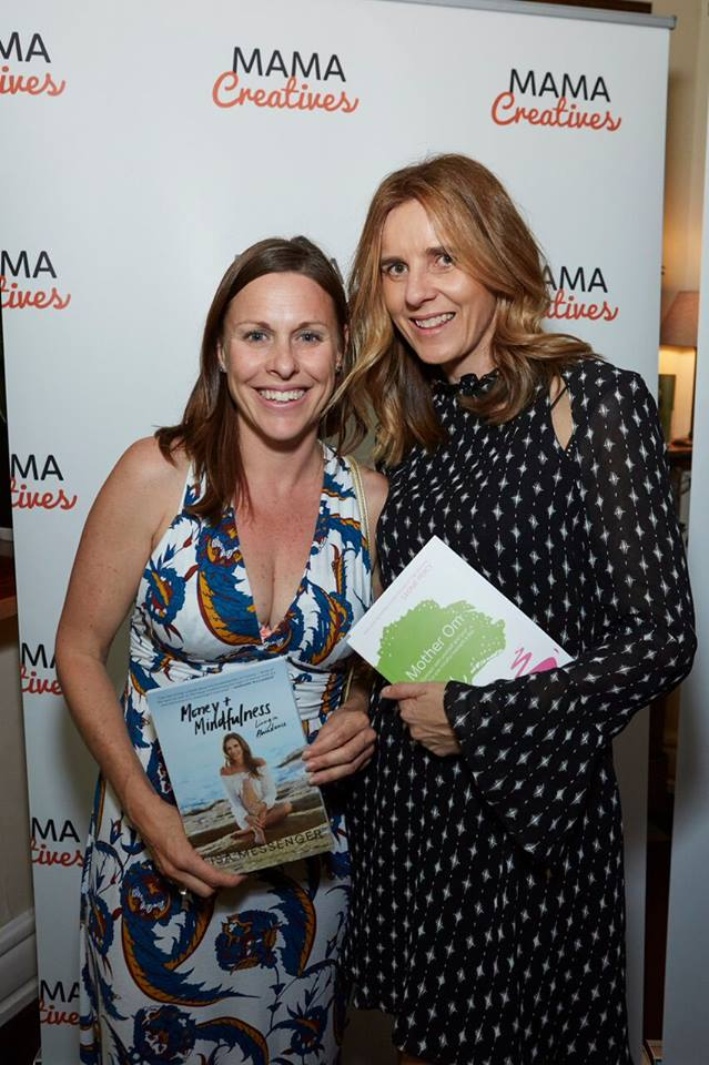 """An exuberant Leonie, founder of Yoga Mamata - Author of """"Mother Om"""", with Lisa Messenger"""