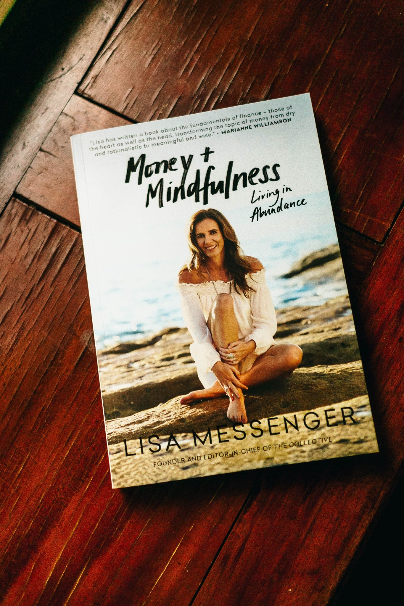 One of the excellent book giveaways, 'Money + Mindfulness' by Lisa Messenger
