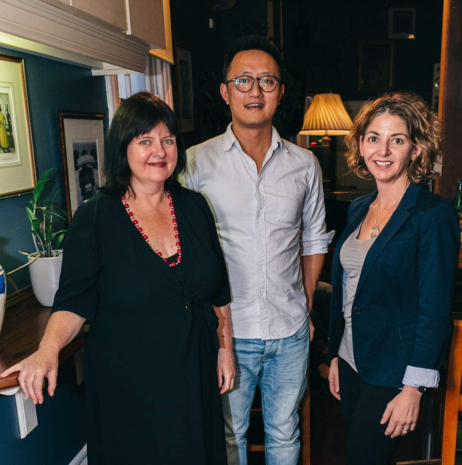 Our esteemed Funding and Finance Panel; Lisa Cahill, Director of Australian Design Centre, Rick Chen, co-founder of Pozible, and Noga Edelstein, co-founder of Urban Outsource
