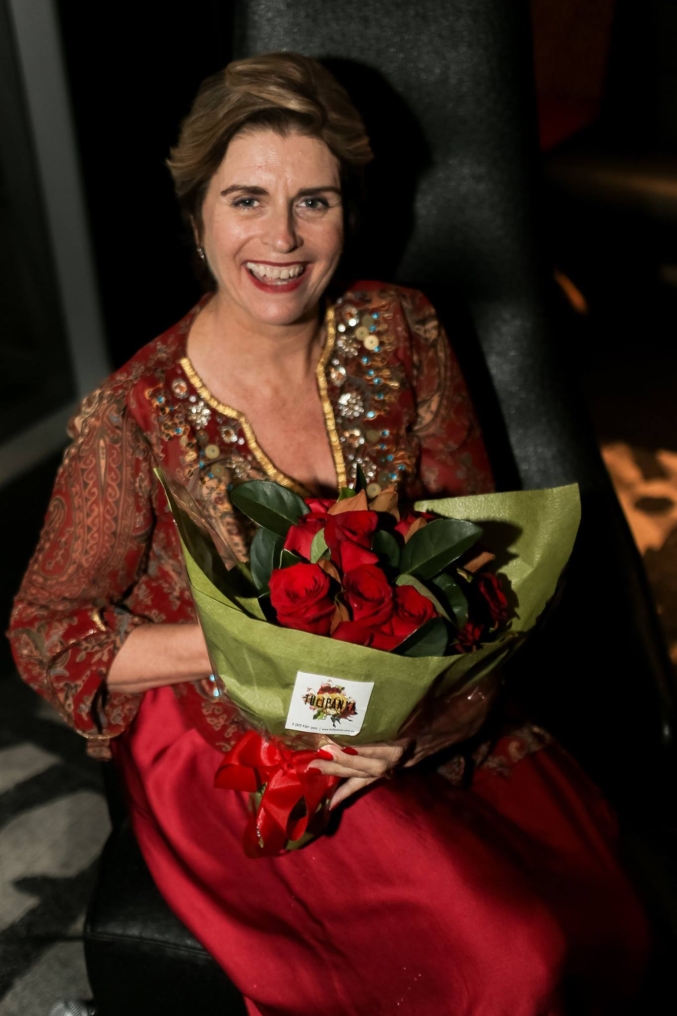 Nothing like red roses at a Red Party! Thank you Maree Lipschitz for your beautiful and soulful vibe to set the scene for the evening. A very impressive journey from scientist to The Midlife Midwife! Thank you for the contribution you are making to educating women and daughters about our bodies and feminine power.