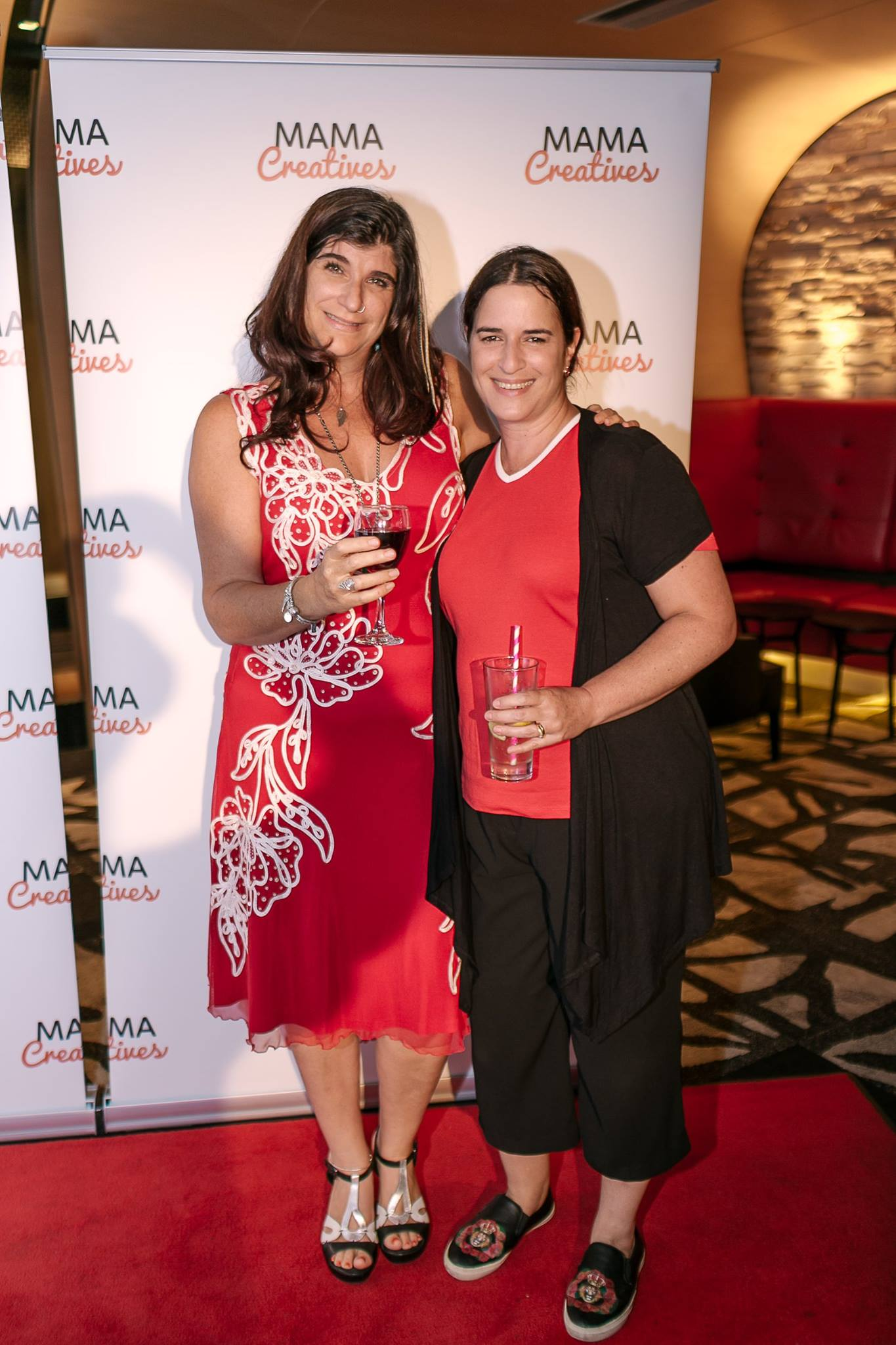 The fabulous writer Joanne Fedler, with Michelle Favero,