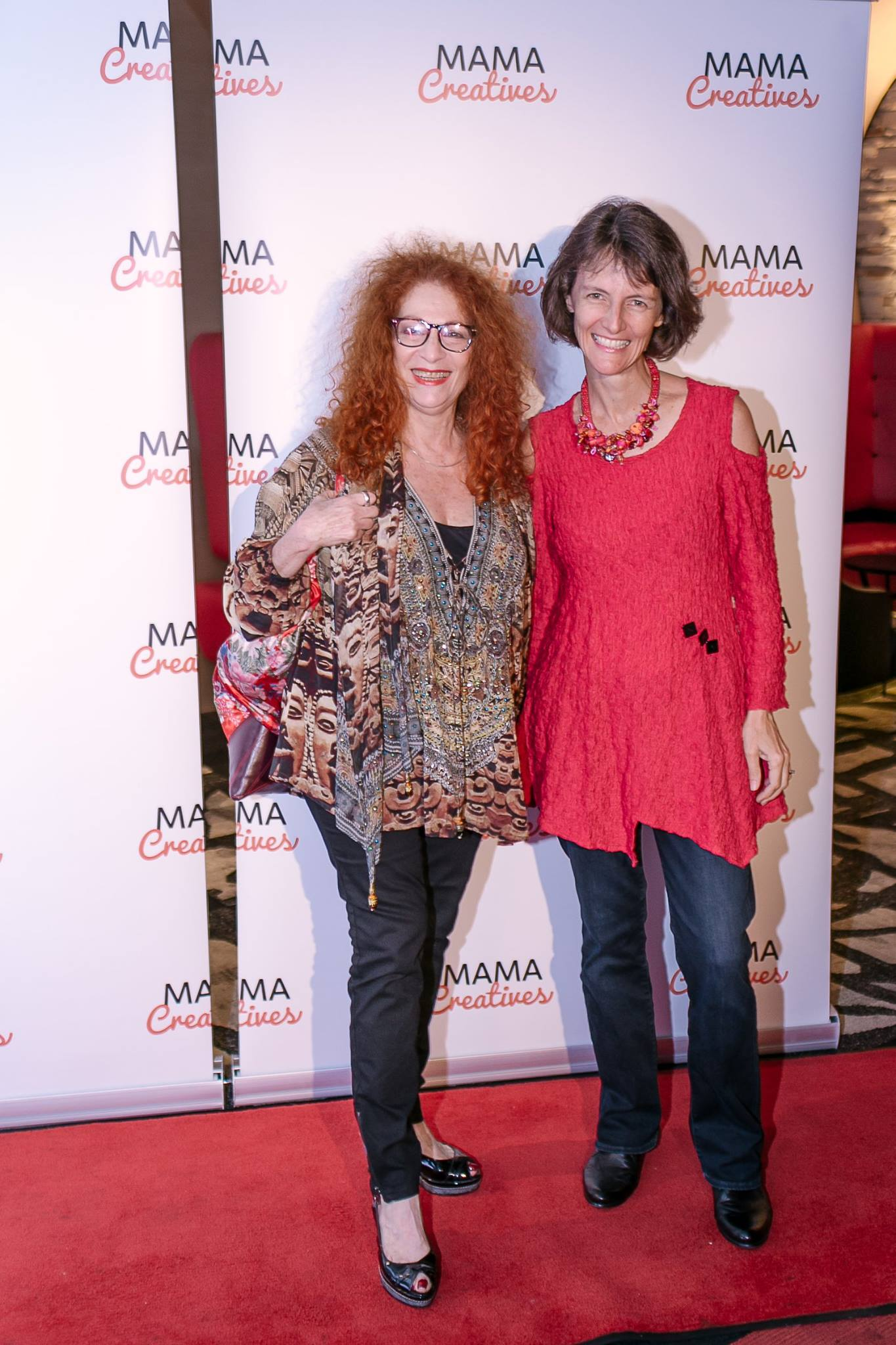 Two musical mamas, singer Fay Sussman, from Klezmer Divas with musician Samantha, from the band Vegas Nerve.