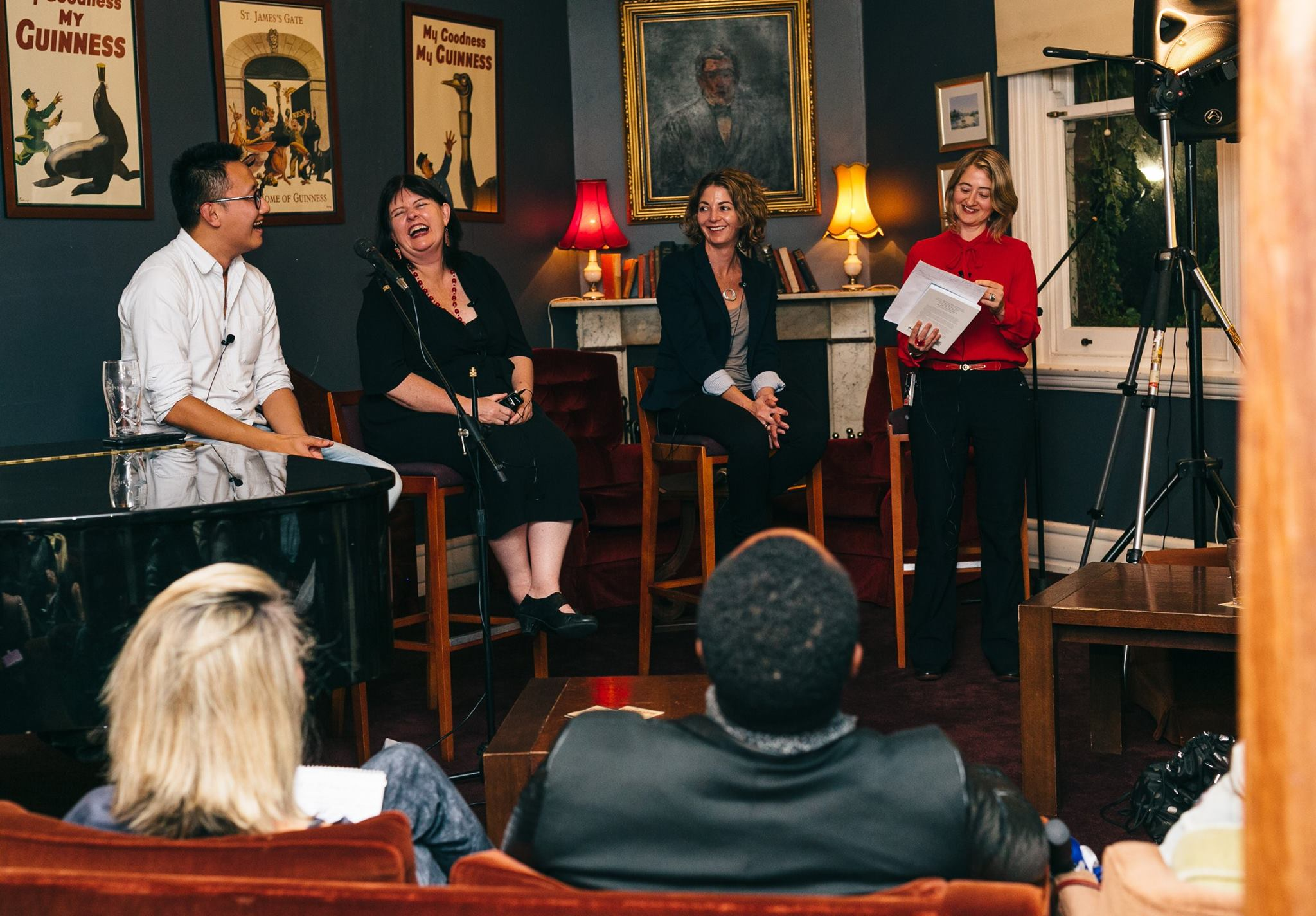 In action, Funding and Finance Panel; Rick Chen, co-founder of Pozible, Lisa Cahill, Director of Australian Design Centre, Noga Edelstein, co-founder of Urban Outsource, and yours truly, founder of Mama Creatives facilitating the discussion