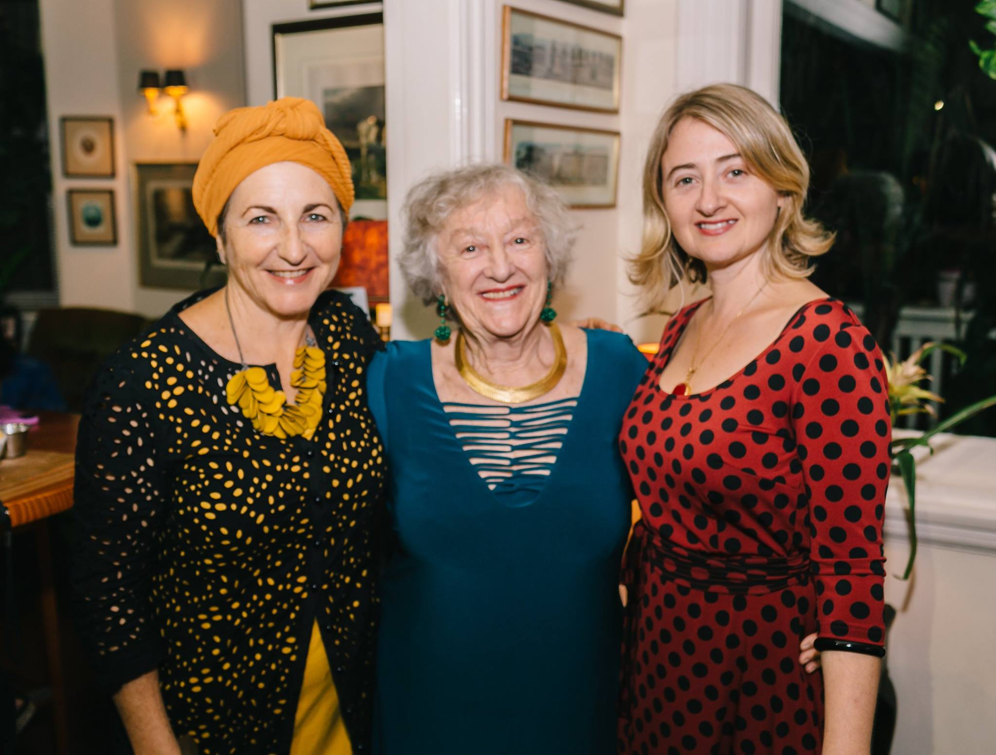 At our April Creative Mama Evening Talk, 'Body Bold Body Beautiful' featuring photographic artist Ella Dreyfus. With my own creative mother, Bev, who turned 80 on the same day!