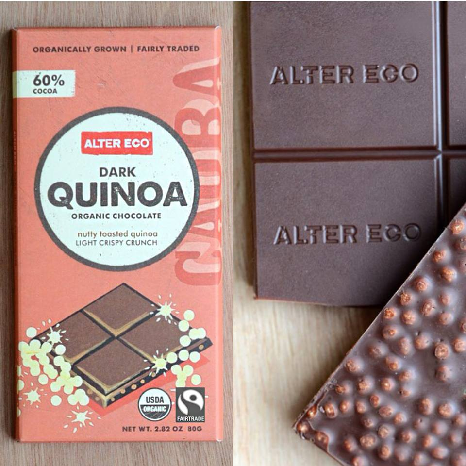 Thank you to the fabulous folks at Alter Eco Pacific for supporting our pre-Mother's Day event. Every mama who attended received a bar of this incredible fair trade organic quinoa and dark chocolate. Best on the planet!