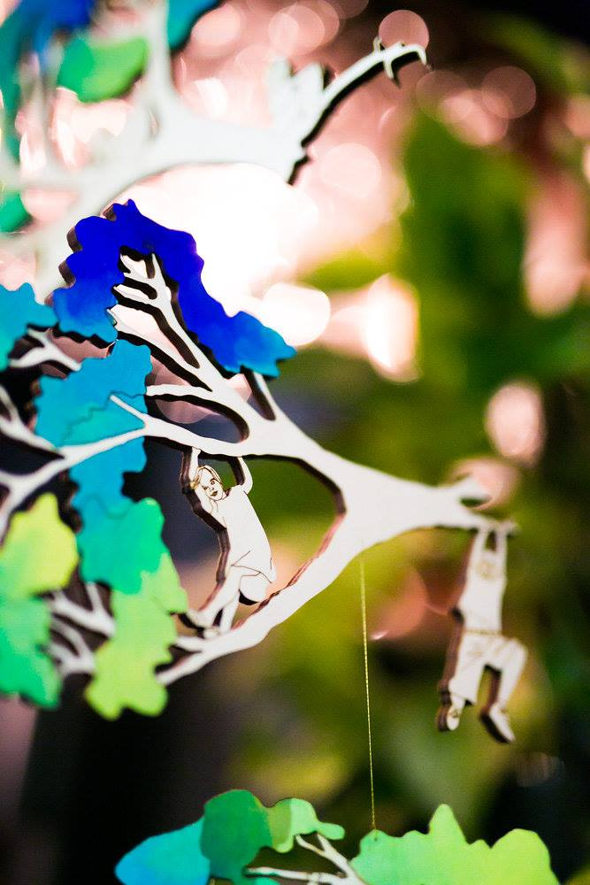 Detail from one of Jade Oakley Artist's mobile sculptures
