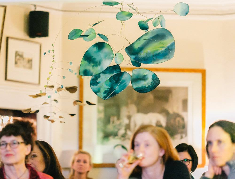 Beautiful mobiles hanging created by Jade Oakley