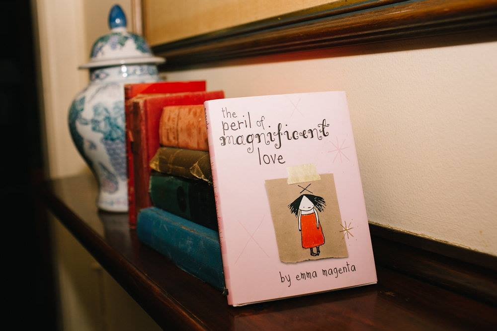 Mama Creatives just celebrated our third birthday so we had some special giveaways, including this fabulous book, 'The Peril of Magnificent Love' by Emma Magenta