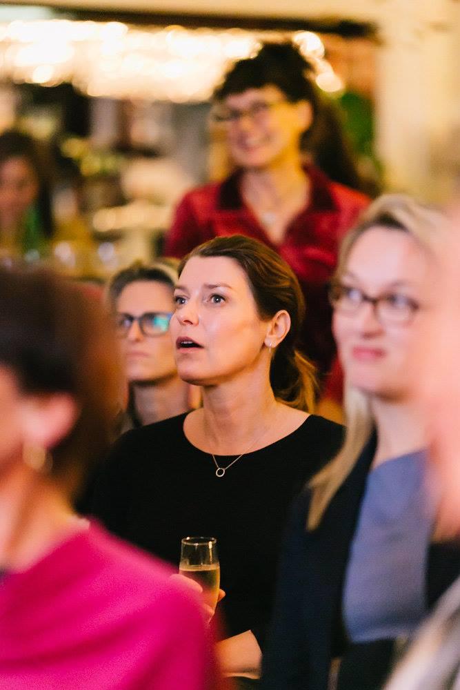 Engrossed in the talk by Jade Oakley