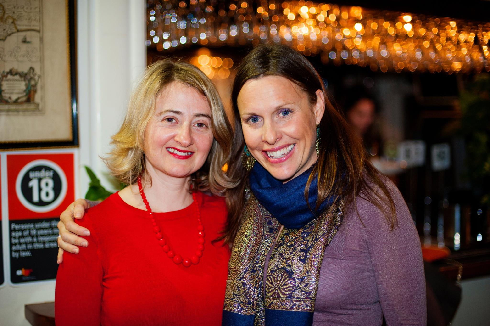 With previous Mama Creatives presenter Leonie Percy