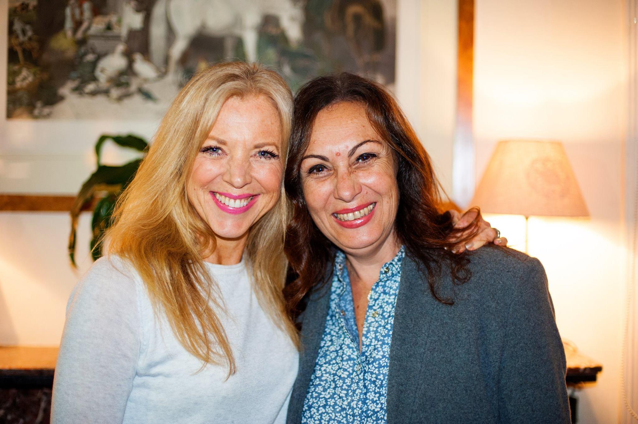 Super talented creative mamas Lynette de la Vega and Ava Yvonne Coburn at our Creative Mama Evening Talk