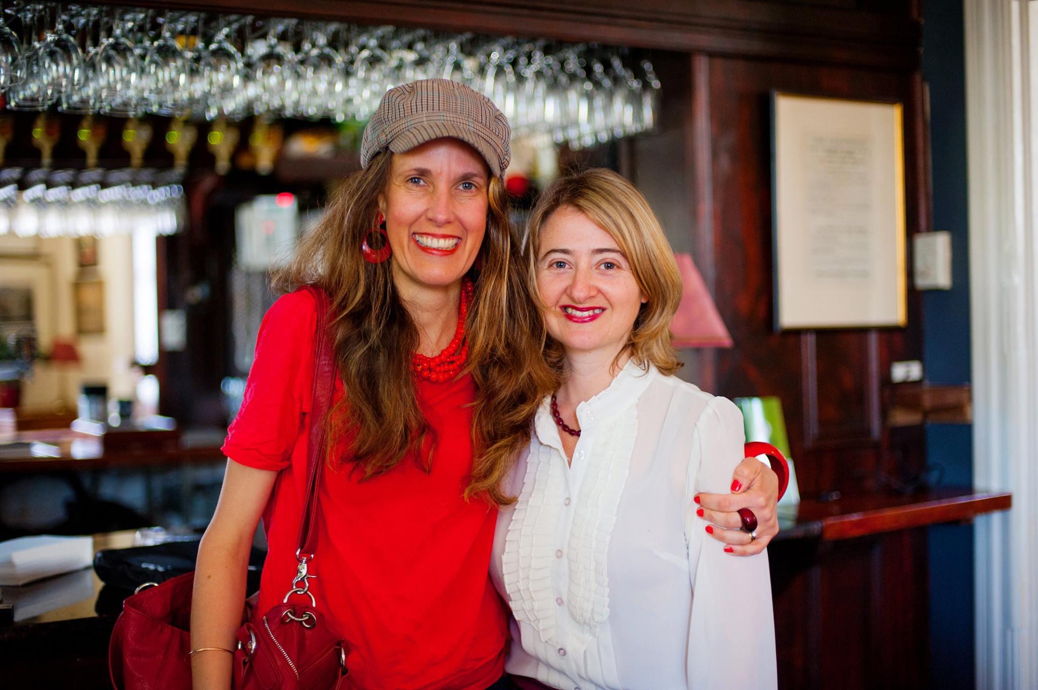 With artist Yaeli Ohana