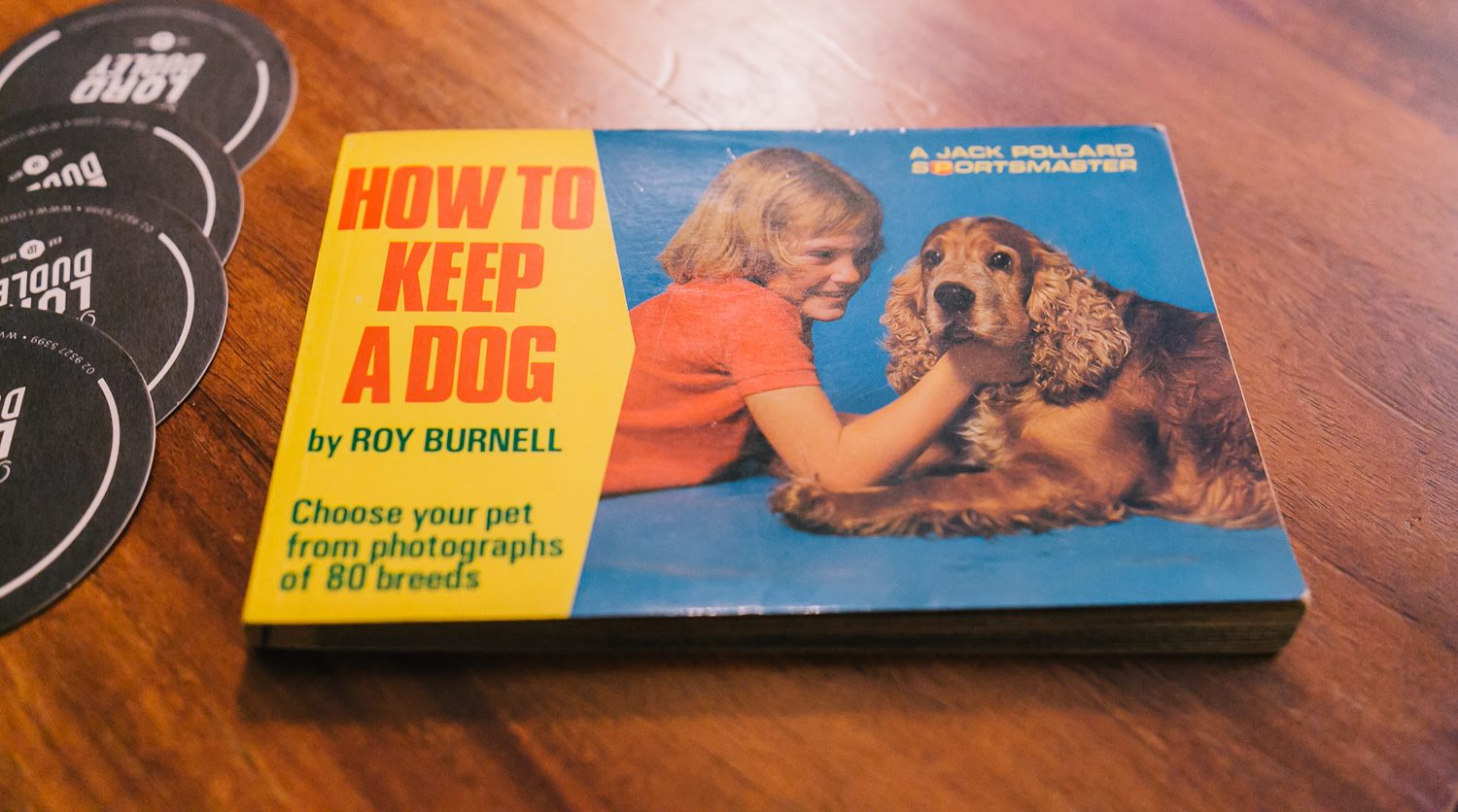 Lou's first foray into fame, on the cover of 'How to Keep a Dog', written by her father. A great story accompanied this book, shared at our Mama Creatives evening talk