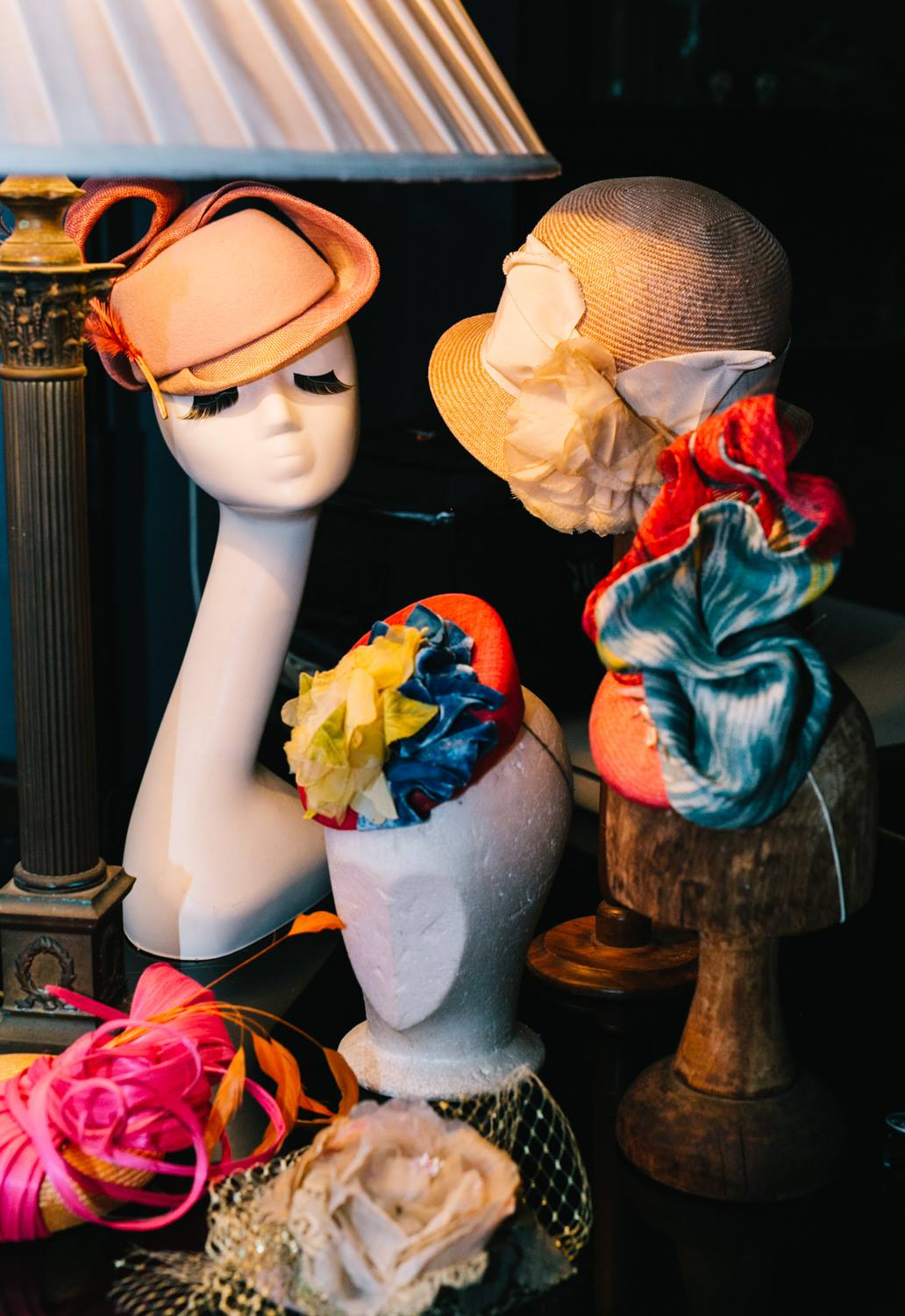 Some of the hats made by Louise Trevitt