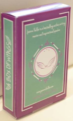 """An amazing pack of WINGS cards - """"Words to Inspire, Nourish and Grow the Spirit. Cards for writers, thinkers, spiritual seekers and creatives"""", courtesy of writer and wrting mentor Joanne Fedler for our 'In the Pink' raffle."""