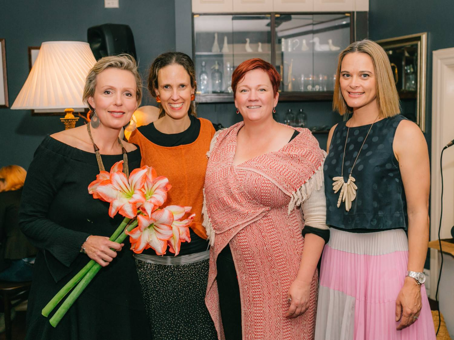 Our featured presenter Louise Trevitt, with artist Yaeli Ohana and Jade Oakley and Lizzie Mackinlay from Mary's House.