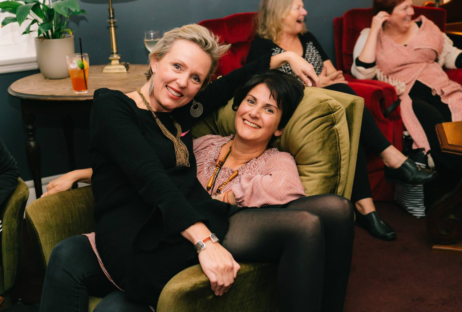 Two remarkable creative mamas, artist Leone Harris with featured presenter Louise Trevitt