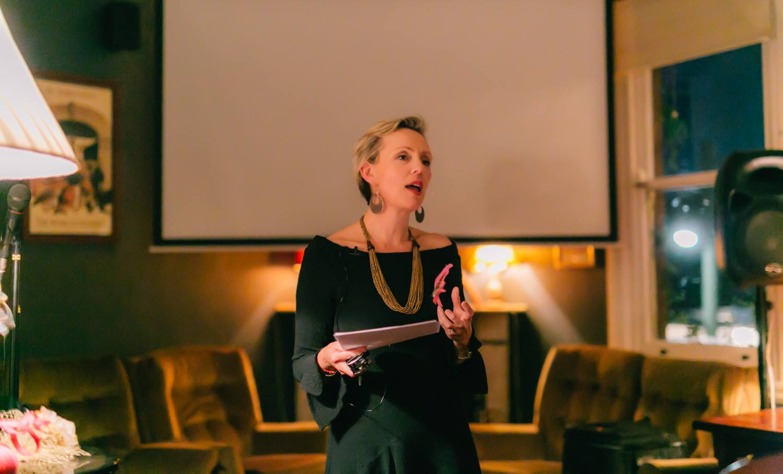 In action, featured presenter Louise Trevitt