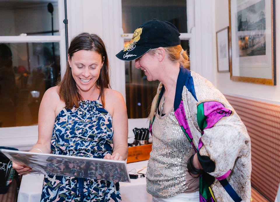 Leonie Percy - delighted winner of the print generously donated by our featured creative mama presenter
