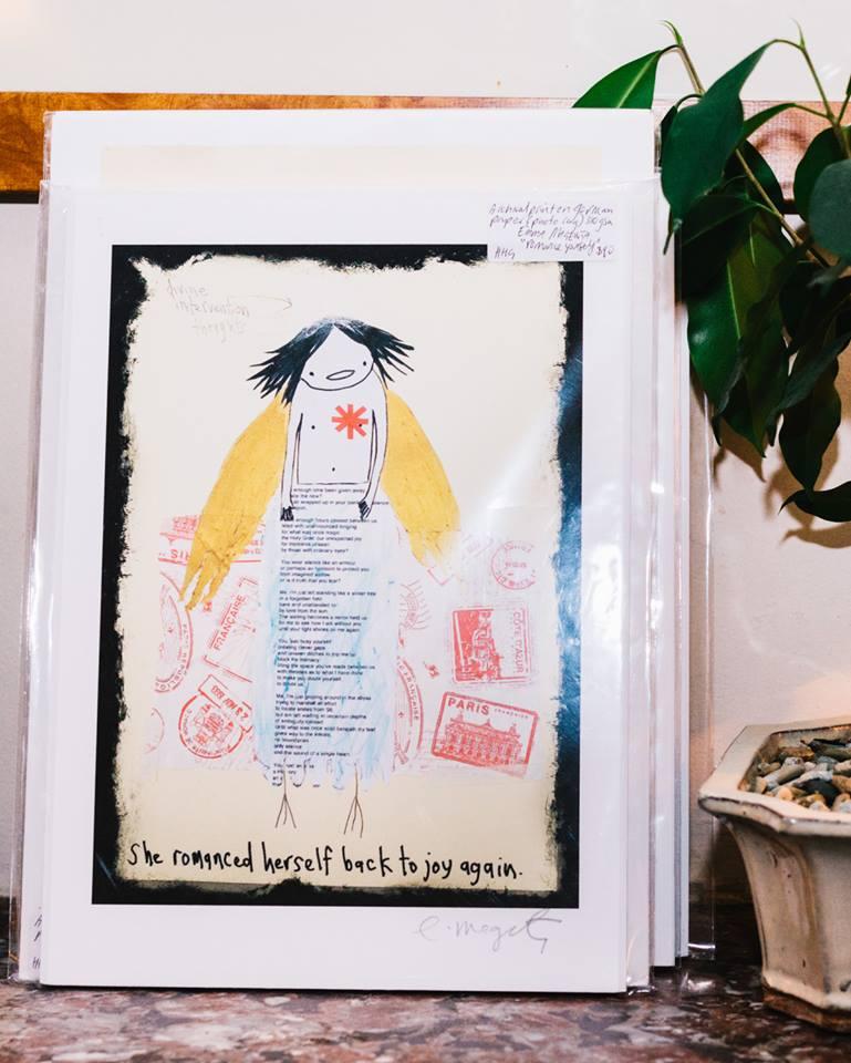 'She romanced herself back to joy again' by Emma Magenta