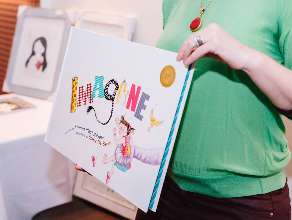 Special giveaway: The award winning children's book 'Imagine' by fellow creative mama, Emma Mactaggart, founder of Child Writes