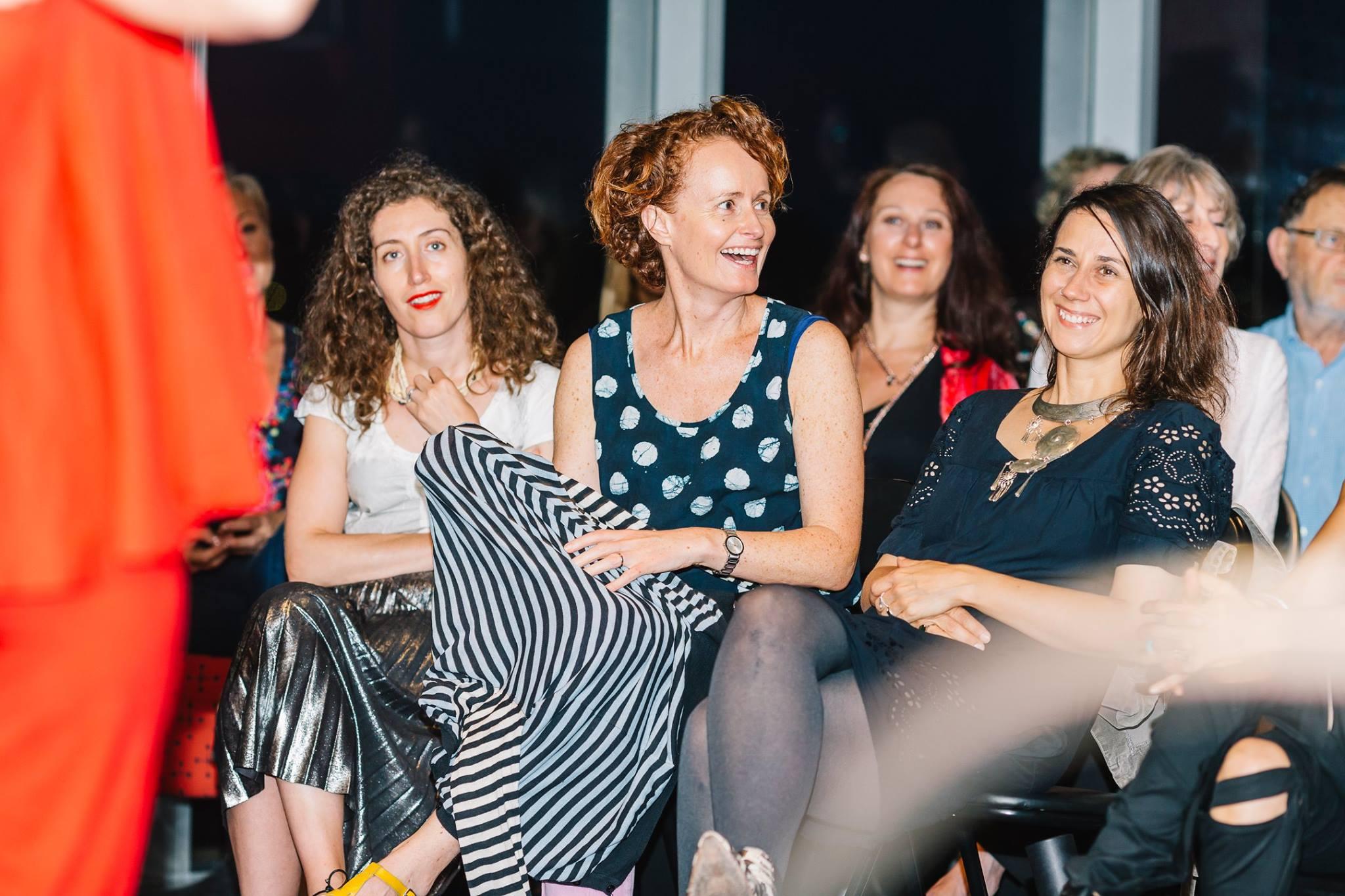 Enjoying the wonderful performance by AniKiko — with Ani Anikiko Malinova, Naomi Tarszisz, Natalie Rowland and Justine Armstrong at Aacta Bar.