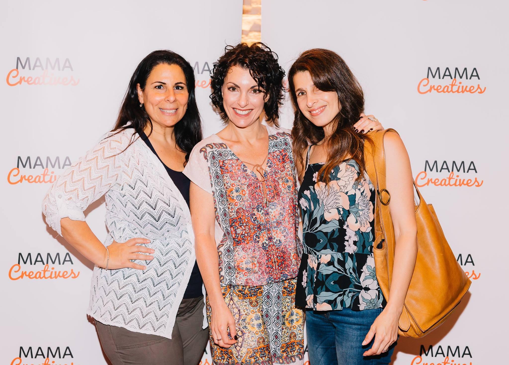 With two fabulous creative mamas — Esther Labi, Kerri Sackville and Nadine Ben-Mayor.