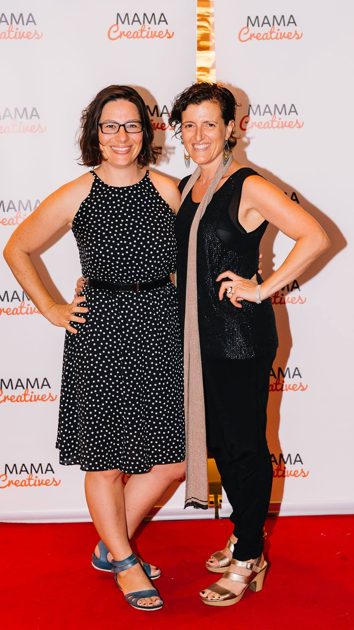 Two fab creative mamas — with Bianca Havas and Shelley Millingen.