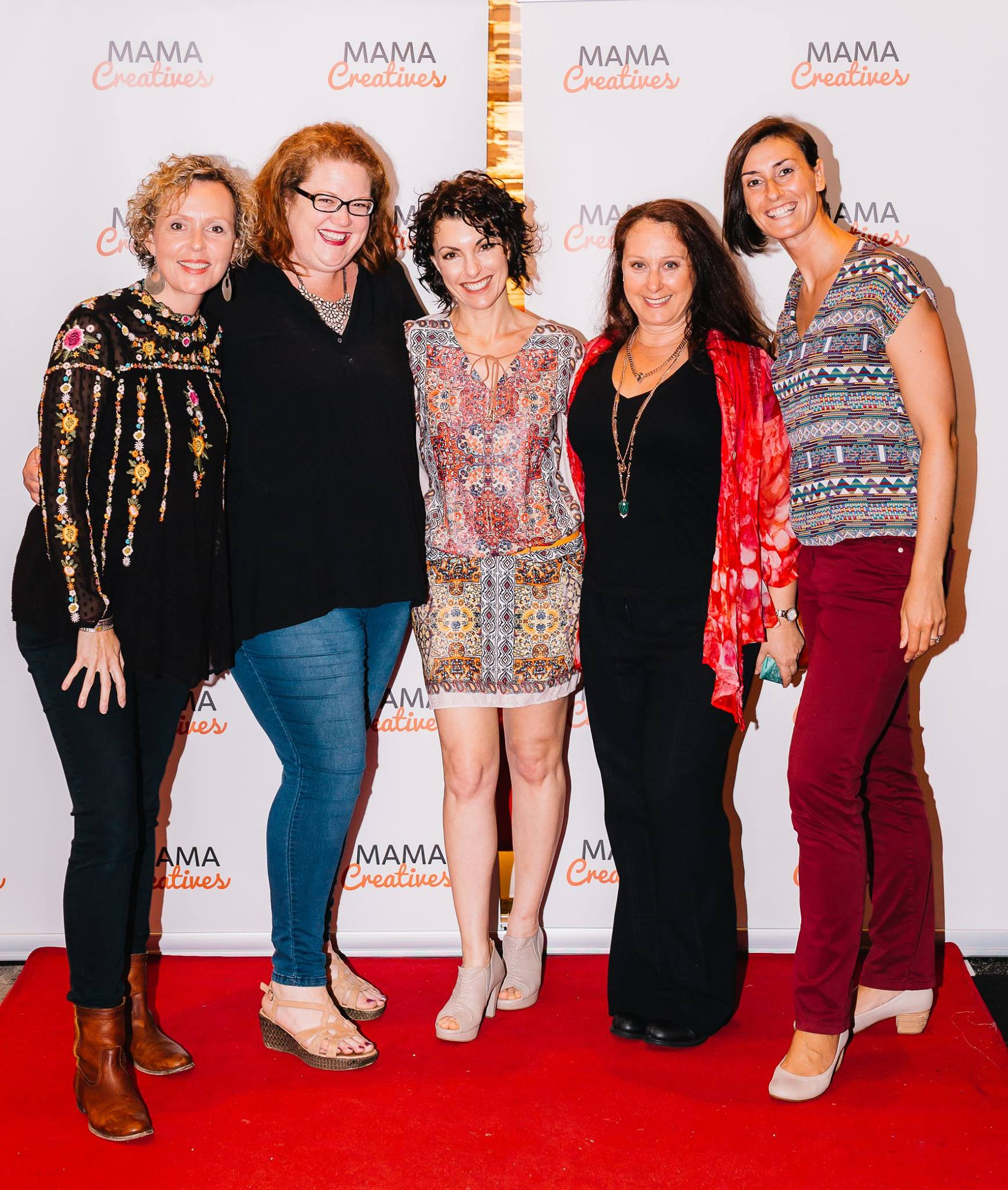 On the red carpet with some super talented creative women, Louise Trevitt, Bron Maxabella, Kerri Sackville, Justine Armstrong and Maeve Belshaw