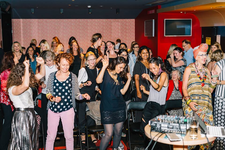 Creative mamas dancing to the beats by performer AniKiko.