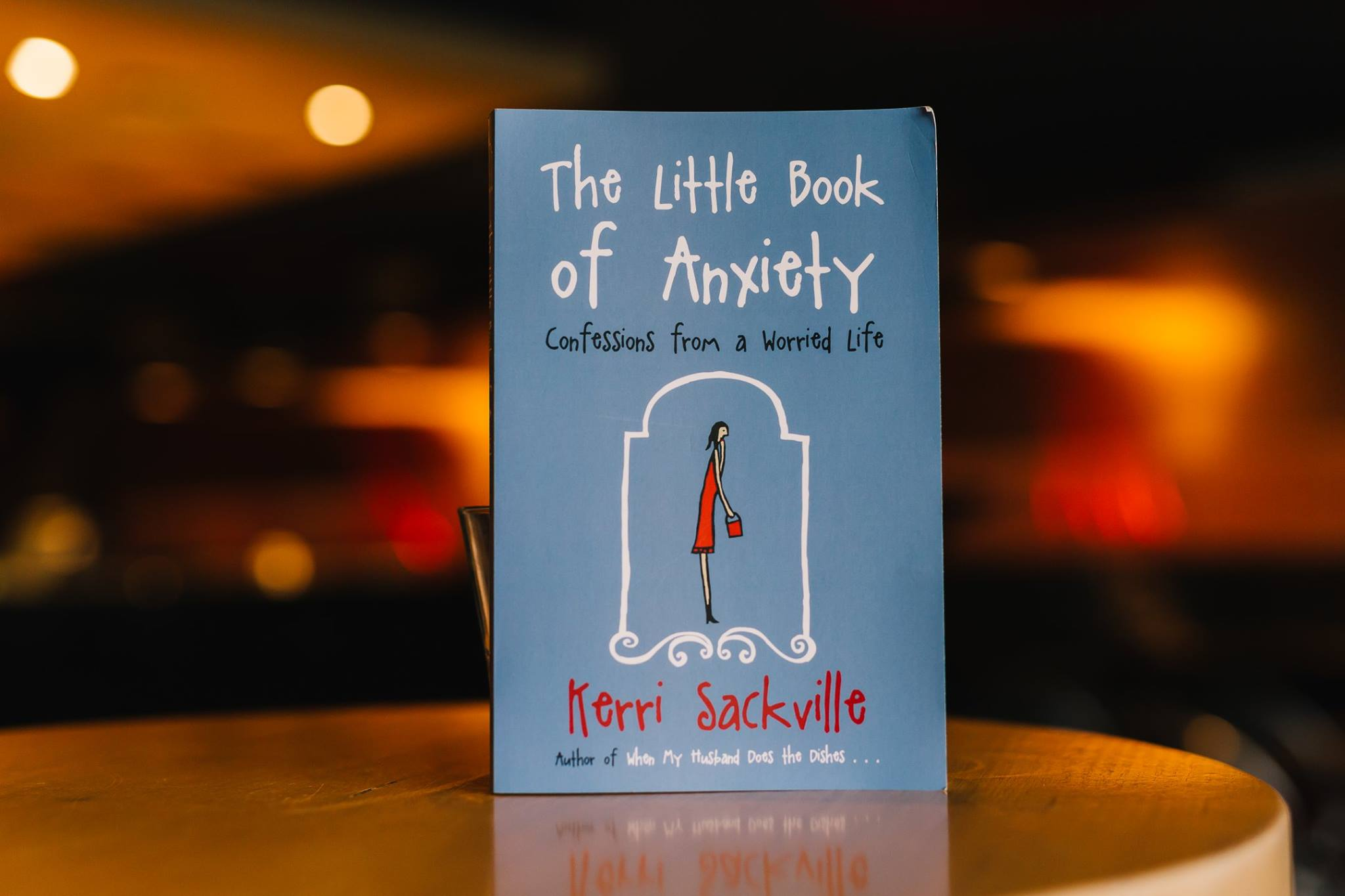 A copy of 'The Little Book of Anxiety, Confessions from a Worried Life' by Kerri Sackville. Everyone who attended received their own copy. Published by Penguin Random House.