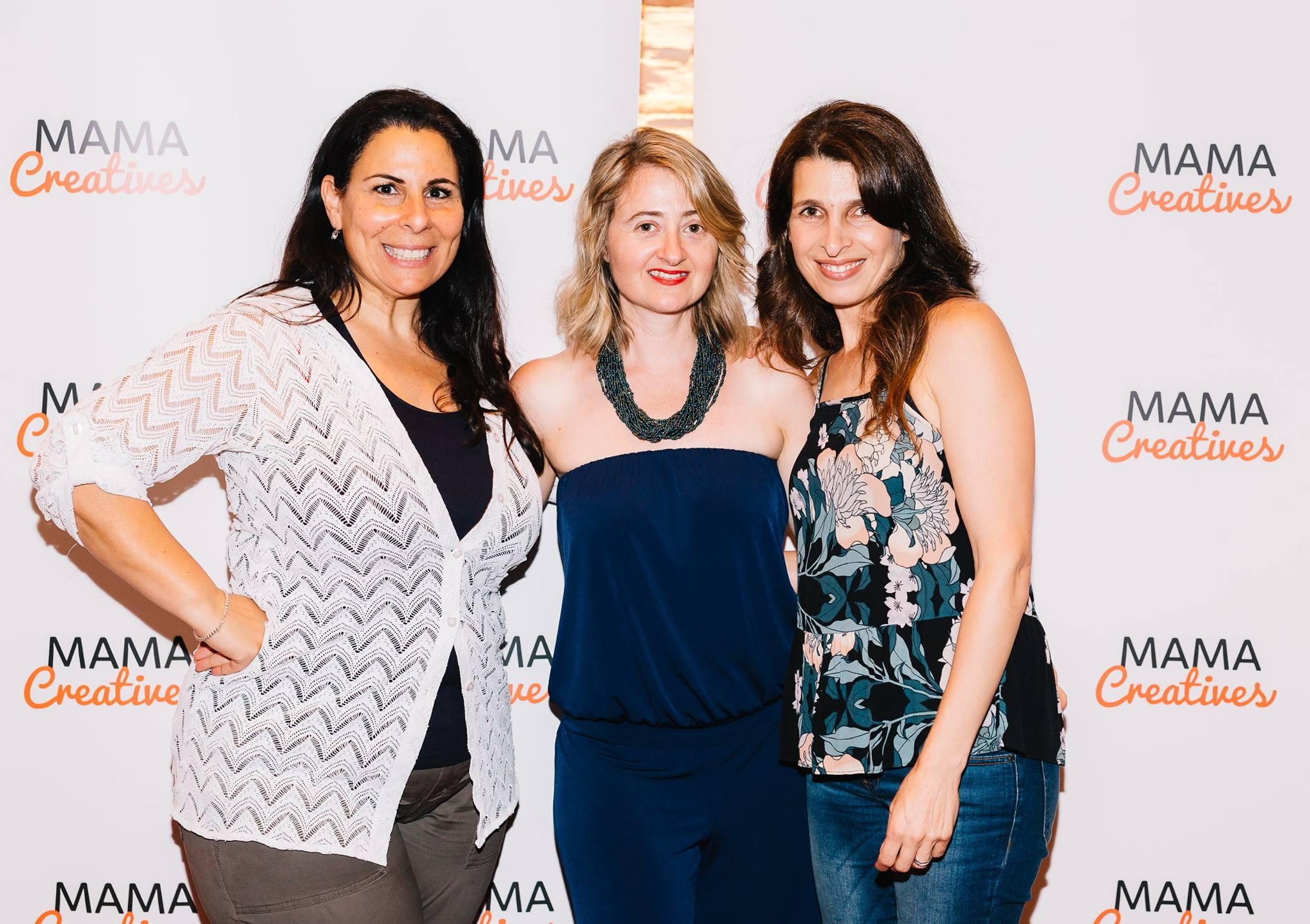 Here with amazing women, Esther Labi, Anna Kellerman and Nadine Ben-Mayor.