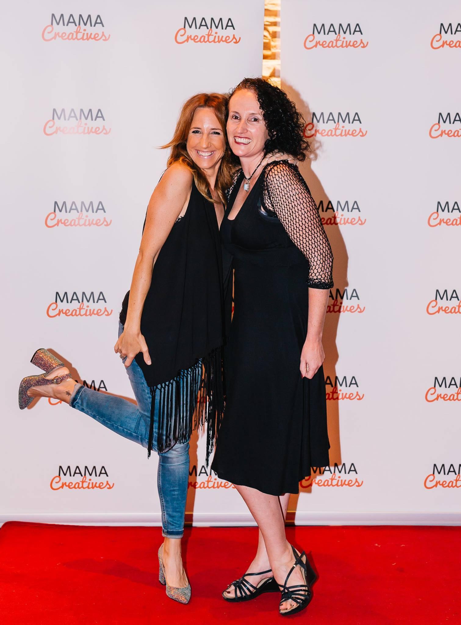 Having fun on the red carpet  — with Fern Madden and Sarah Gardan.