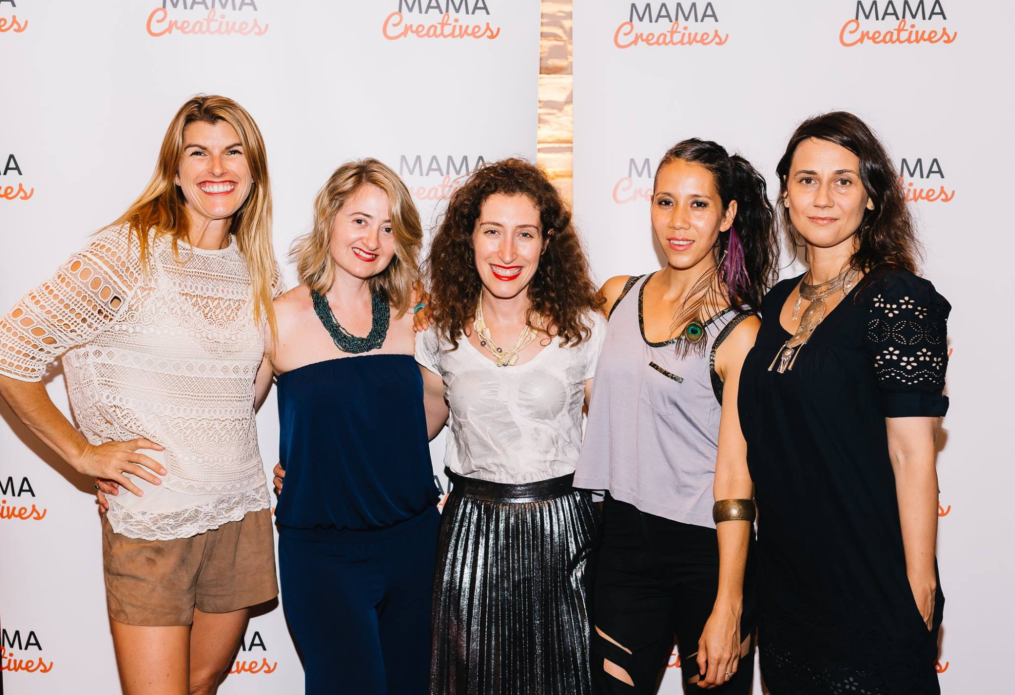 The gorgeous and super talented creative mamas, Lizzy Williamson, Anna Kellerman, Naomi Tarszisz, Suni Sanchez and Dominika Ferenz.