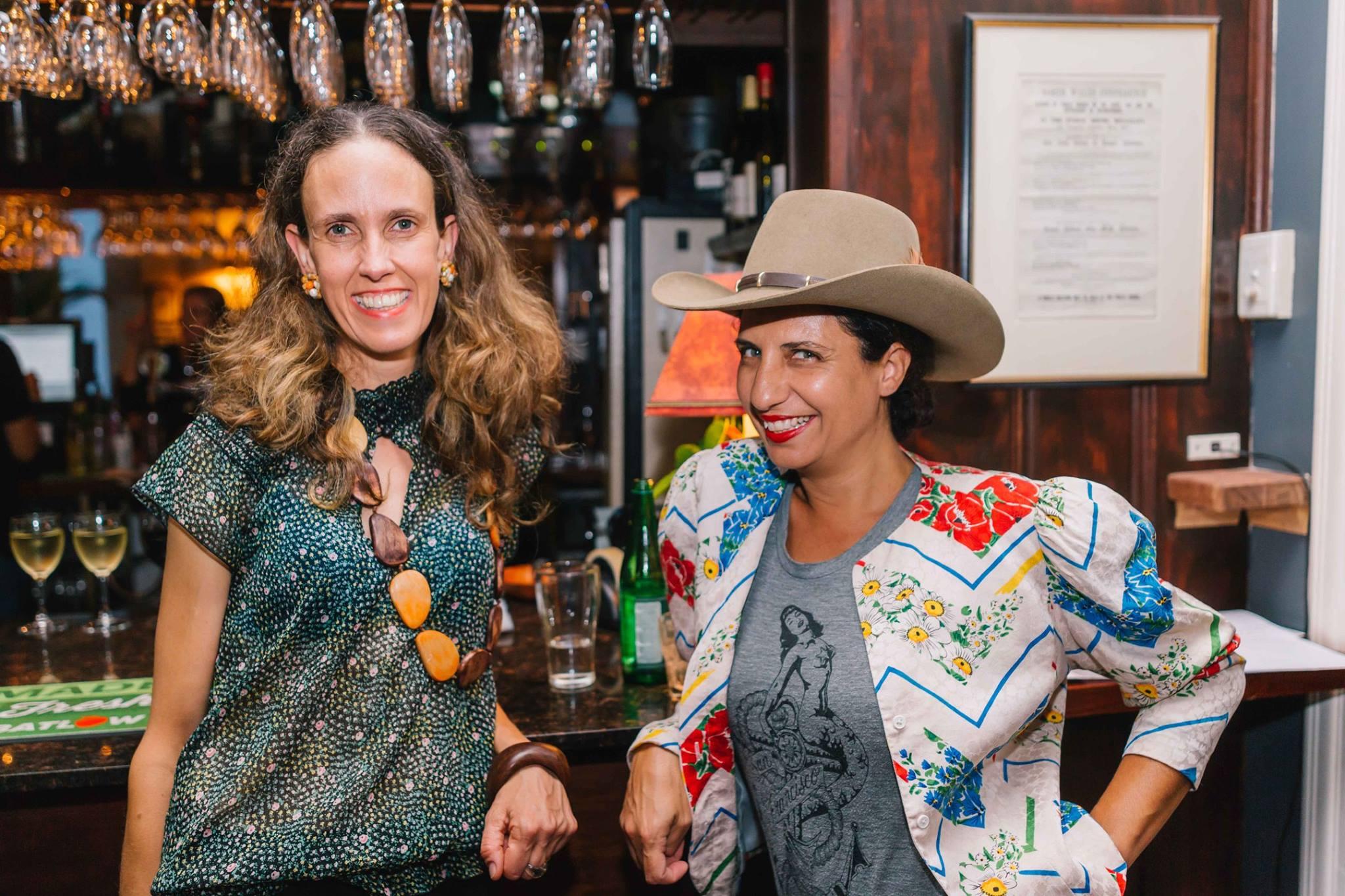 Two very special creative women, artist Yaeli Ohana and Cynthia Sciberras, editor of YOKE magazine at our Mama Creatives Expert Blogger Panel