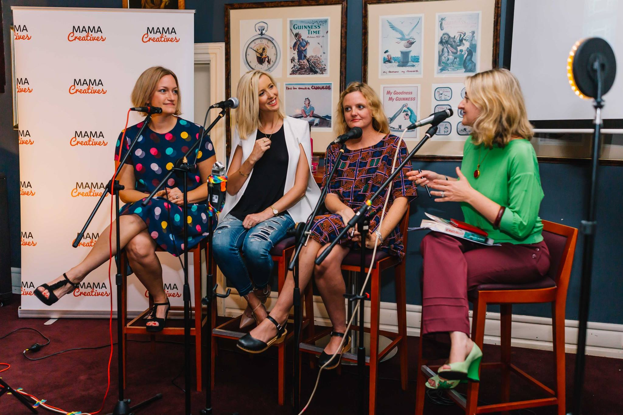 In action, at our Mama Creatives Expert Blogger Panel: 'Sharing your voice & creative passion', featuring Alexx Stuart, founder of Low Tox Life, Lorraine Murphy, founder of The Remarkables Group & Jo Dunlop, creator of GLOBAL FASHPACK.