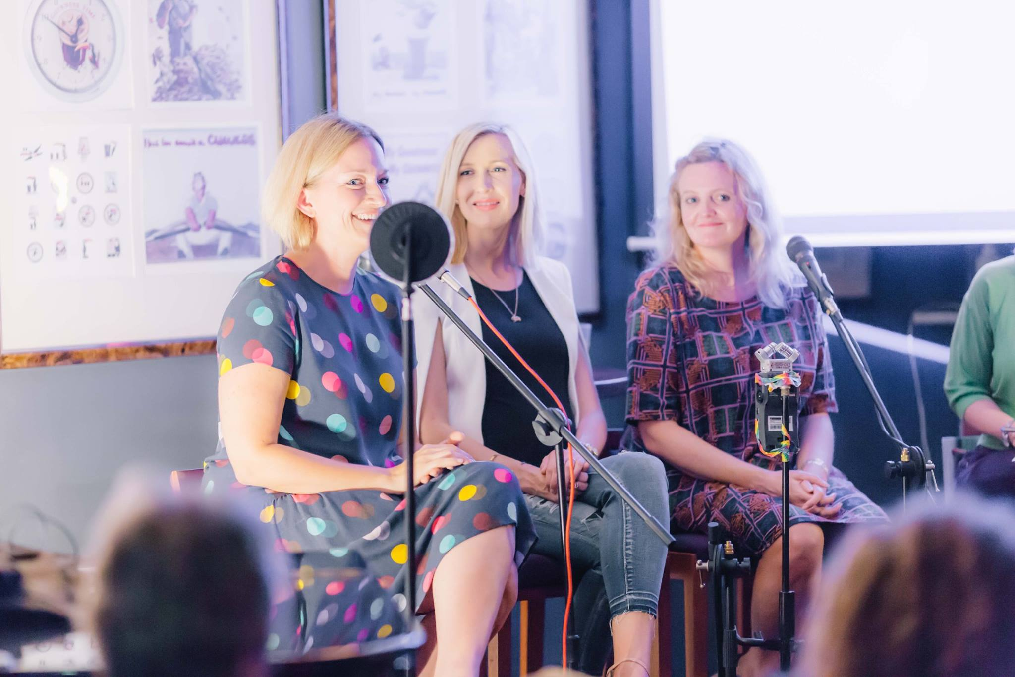 In action, the wonderful panelists, at our annual Mama Creatives Expert Blogger Panel